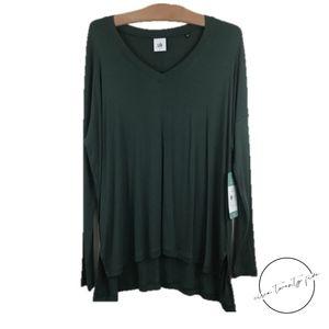 Cabi Chill Tee Covent Gardens Green V-Neck Shirt S